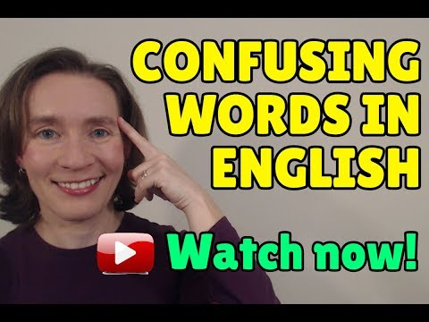 LIVE CLASS: Confusing Words in English
