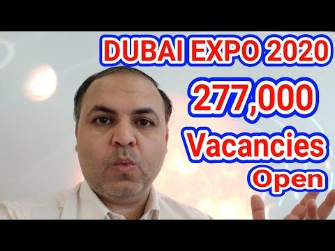 Dubai Expo 2020 || 277,000 Vacancies Open Now | Apply Now