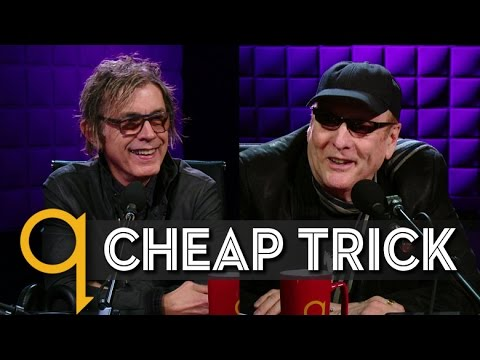 Cheap Trick's Rick Nielsen & Tom Petersson in studio q