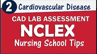 CAD Heart Disease NCLEX Review Modifiable LDL HDL Triglycerides 2018