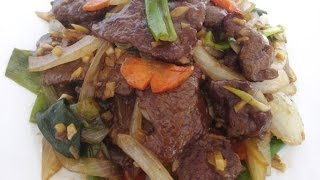 Beef Ginger And Spring Onion