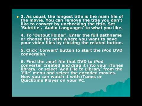 How To Rip DVD To IPod Touch, IPod Nano Converter On Windows, Vista