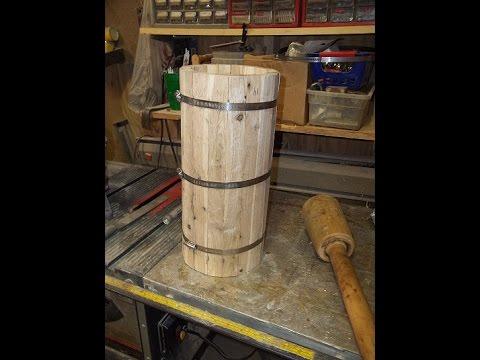 Making A Small Oak Barrel