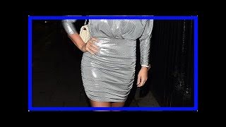 Kerry Katona her marching two stone weight loss in a silver mini dress plunging on girls ' night ou