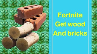 Fortnite STW: how to get wood and brick effectively