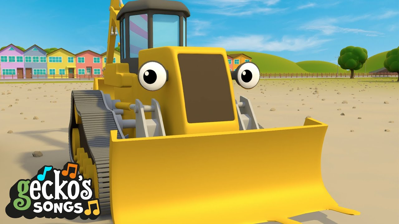 The Construction Trucks Song | Nursery Rhymes & Kids Songs | Gecko's Garage | Trucks For Children