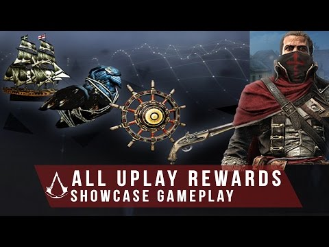 """Assassin's Creed Rogue - All Uplay REWARDS """"Including Edward's Pistol and Ship"""" (Gameplay)"""