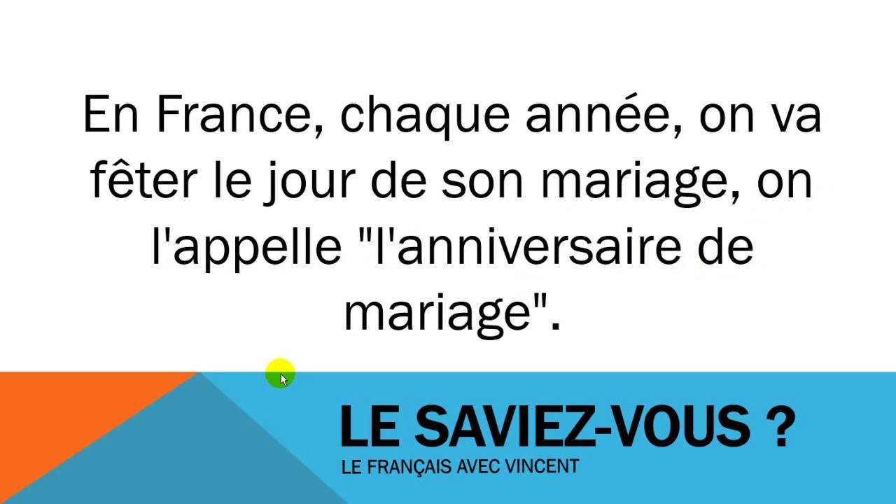 anniversaire de mariage france