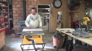 How I Built A Glass Table Saw Cross Cut Sled Jig *delux Edit