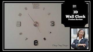🌺DIY 3D Wall Clock  Product Reveiw Home Decor👍👍🌸