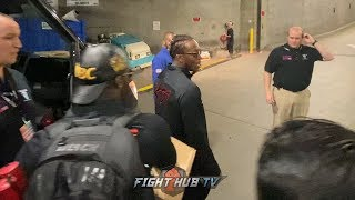 A VICTORIOUS KSI LEAVES STAPLES CENTER WITH TEAM TO CELEBRATE