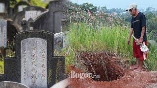 6 Kuburan Cina Di Bogor Dibongkar Orang tak Dikenal saat Hujan Deras, Seluruhnya Jasad Wanita