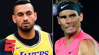 Gambar cover Nick Kyrgios honors Kobe Bryant, Rafael Nadal advances   2020 Australian Open Highlights