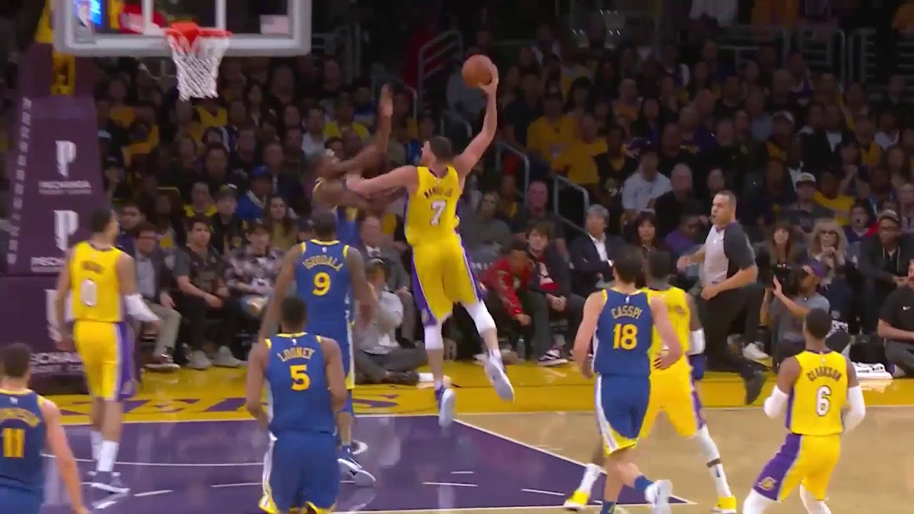 Lakers  Larry Nance Jr. Posterizes Kevin Durant With Monster Jam ... 710823268