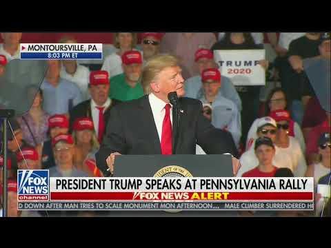 Trump Gets Pennsylvania Rally Crowd to Boo Fox News: 'Something Strange Is Going On'