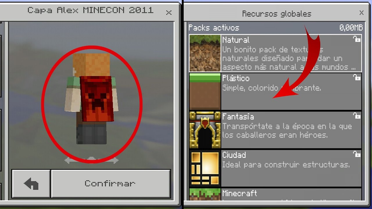 YouTube Gaming - Skins para minecraft pe con capa