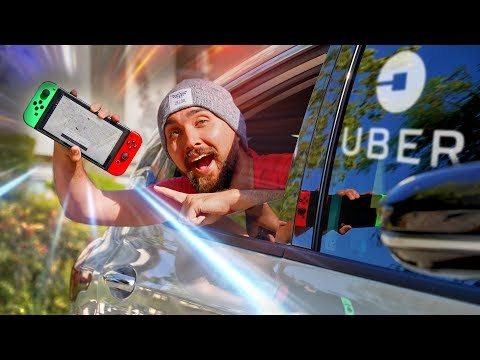 Ordering an Uber on Nintendo Switch