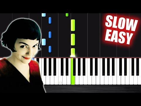 Yann Tiersen  Comptine dun autre été  SLOW EASY Piano Tutorial  PlutaX
