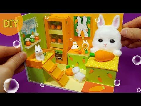 DIY Miniature Dollhouse -  Rabbit Room decor ! carrot~ carrot ~