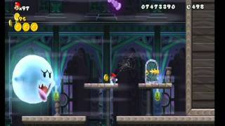 New Super Mario Bros. Wii World 4-Ghost House All Star Coins HD