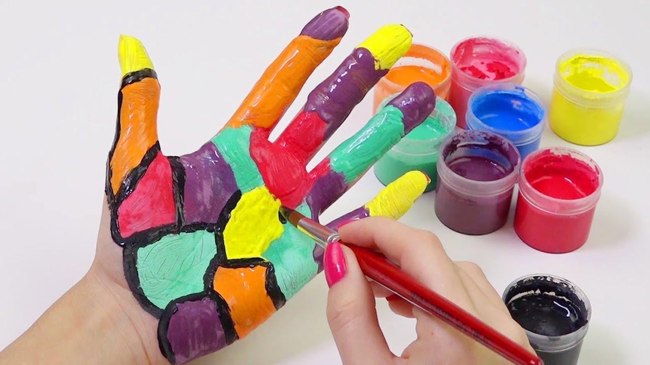 Elimize Rengarenk Desenler Yaparak Renkleri Öğreniyoruz | Akıllı Bıdık