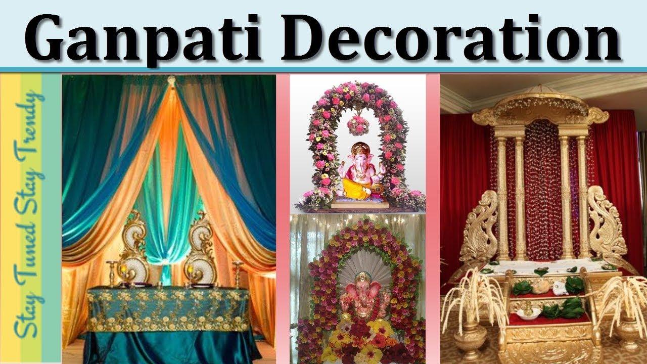 Simple Easy Ganpati Decoration Ideas For Home 2018 Decor Ganeshchaturthi