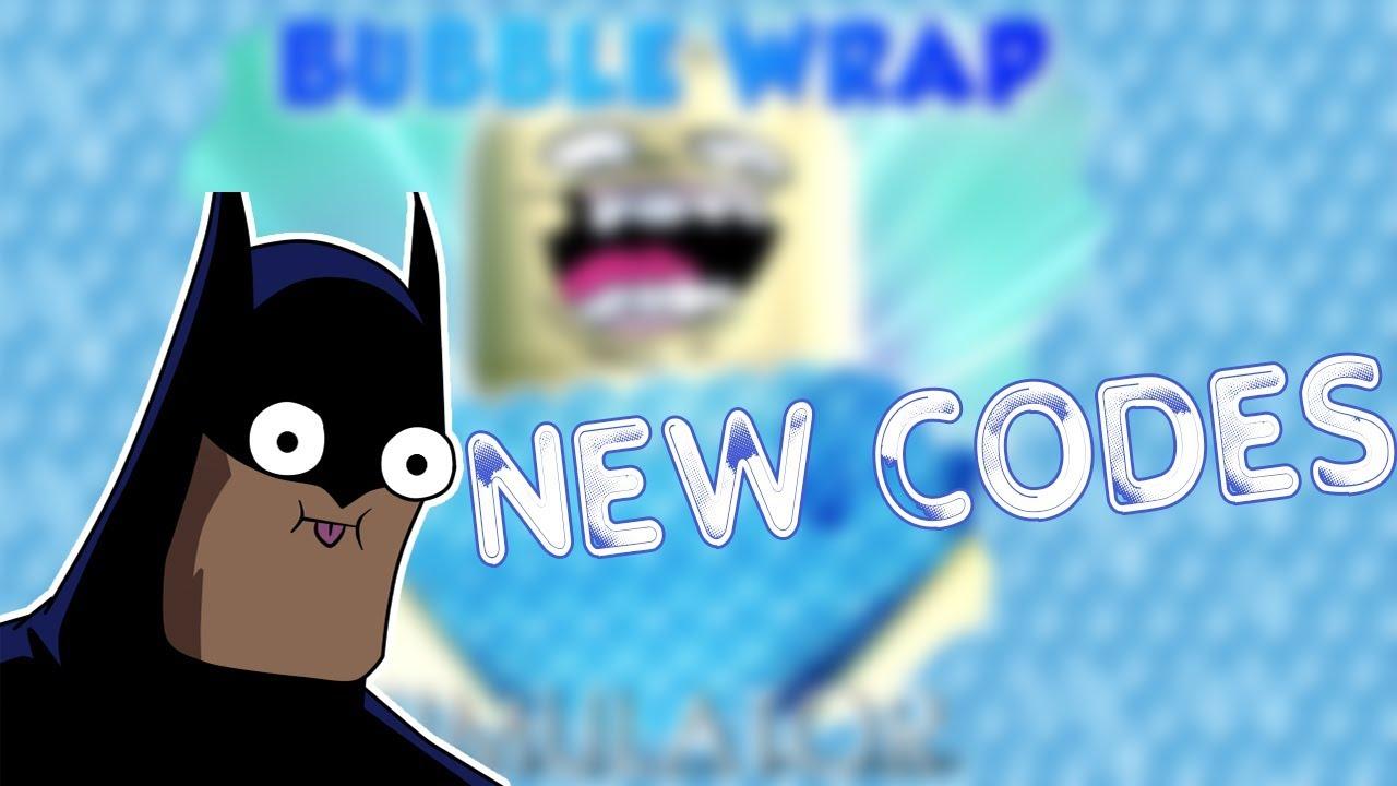 bubble wrap simulator roblox codes