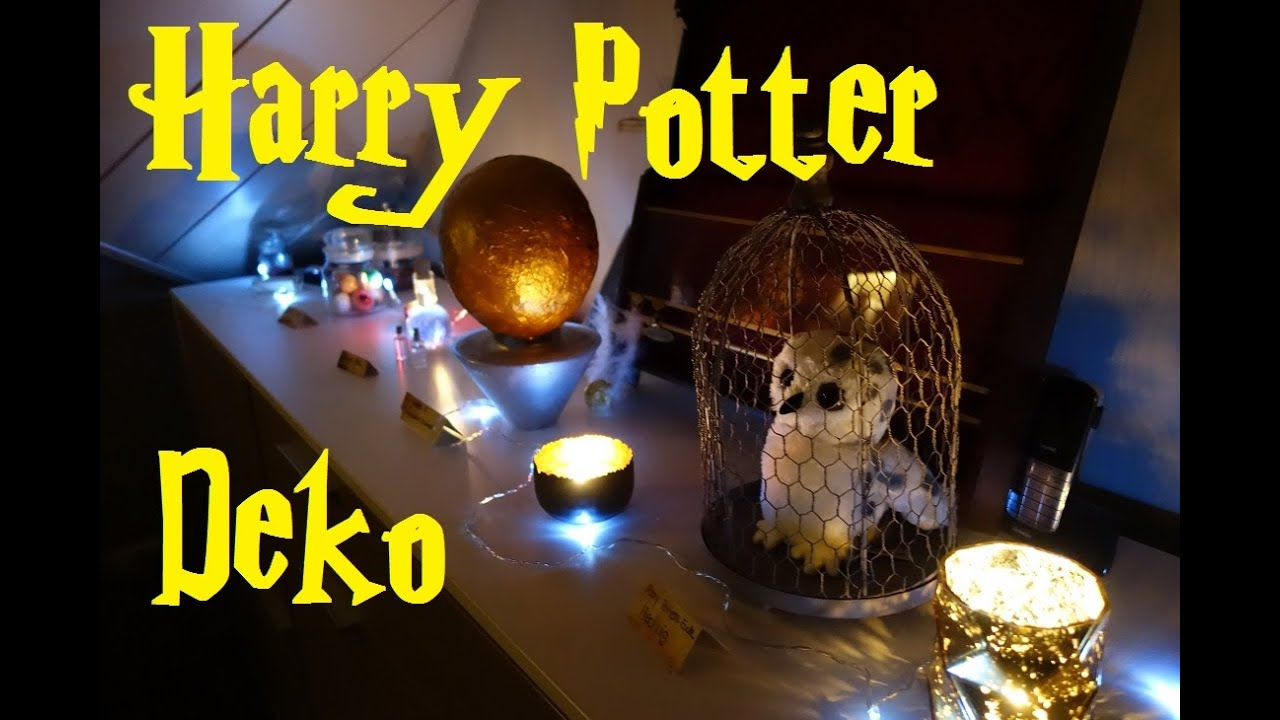 mein geburtstag mottoparty harry potter die deko kaddigalaktisch hd youtube. Black Bedroom Furniture Sets. Home Design Ideas