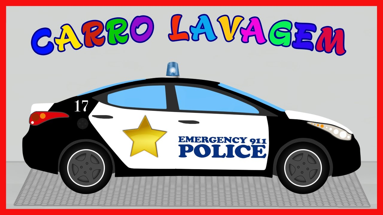 Carro De Policia Carro Lavagem Police Car Wash Desenhos