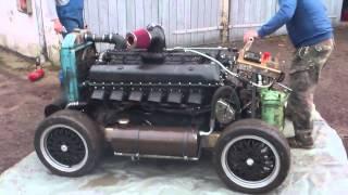 Rolls Royce Merlin falsch! Rover Meteor richtig! erster Start.