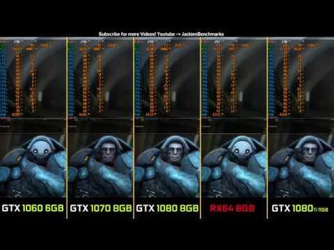 Warframe - 1080p GTX 1060 vs  1070 vs  1080 vs  Vega RX64 vs