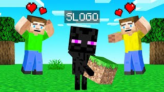 We Found A BABY ENDERMAN In Minecraft! (Pet)