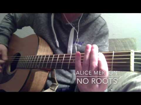 NO ROOTS Guitar ALICE MERTON   Gitarre lernen   guitar lesson easy playing