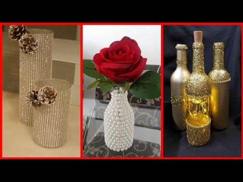 Beautiful recycle bottle craft ideas /stylish bottle decoration