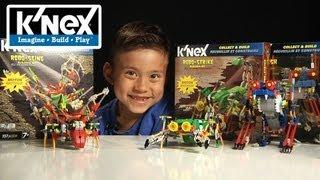 K'Nex Week Day #6 - ROBO CREATURES: ROBO-STRIKE, ROBO-STING, ROBO-SMASH! Motorized Building Sets!