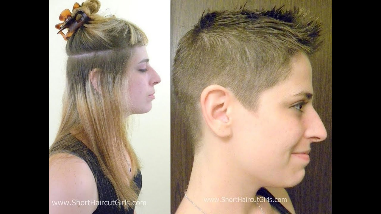 Extreme Pixie Cut Shorthaircutgirls Long To Extreme Makeover