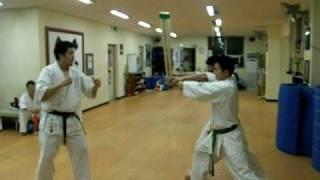 Kyokushin Karate Baseball Bat  Tamesiwari Practice