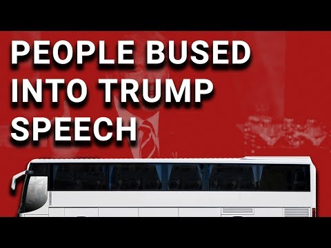 Supporters Bused Into Snowflake Trump's Poland Speech