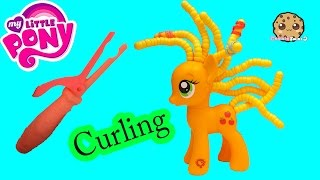 MLP AppleJack Cutie Twisty-Do Curling Hair Style Playset My Little Pony Toy Video Cookieswirlc