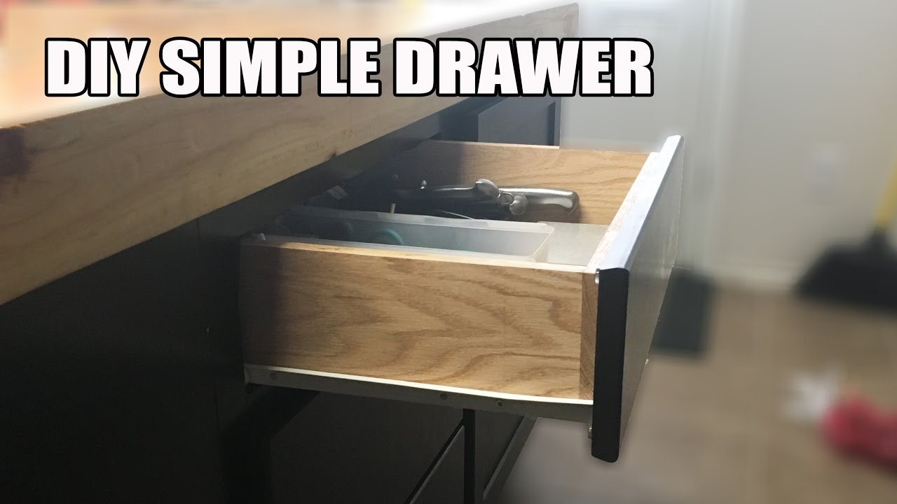 Diy Simple Butt Joint Drawer Full Tutorial Video Youtube