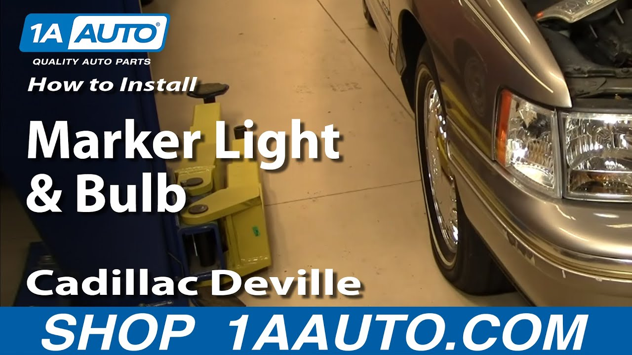 How To Install Replace Side Marker Light And Bulb Cadillac