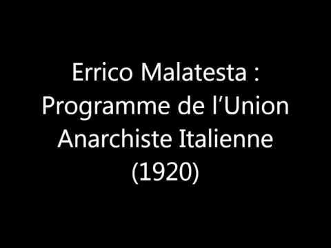 errico malatesta programme de l 39 union anarchiste italienne 1920 youtube. Black Bedroom Furniture Sets. Home Design Ideas