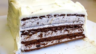 SIMPLE COOKIES & CREAM ICE CREAM CAKE RECIPE