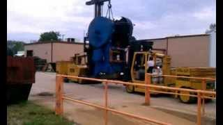 Mideast Machinery Movers, Inc Video of Versalifts laying over a Press