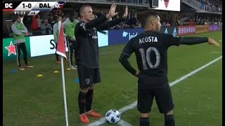 Wayne Rooney & Luciano Acosta Control the Game