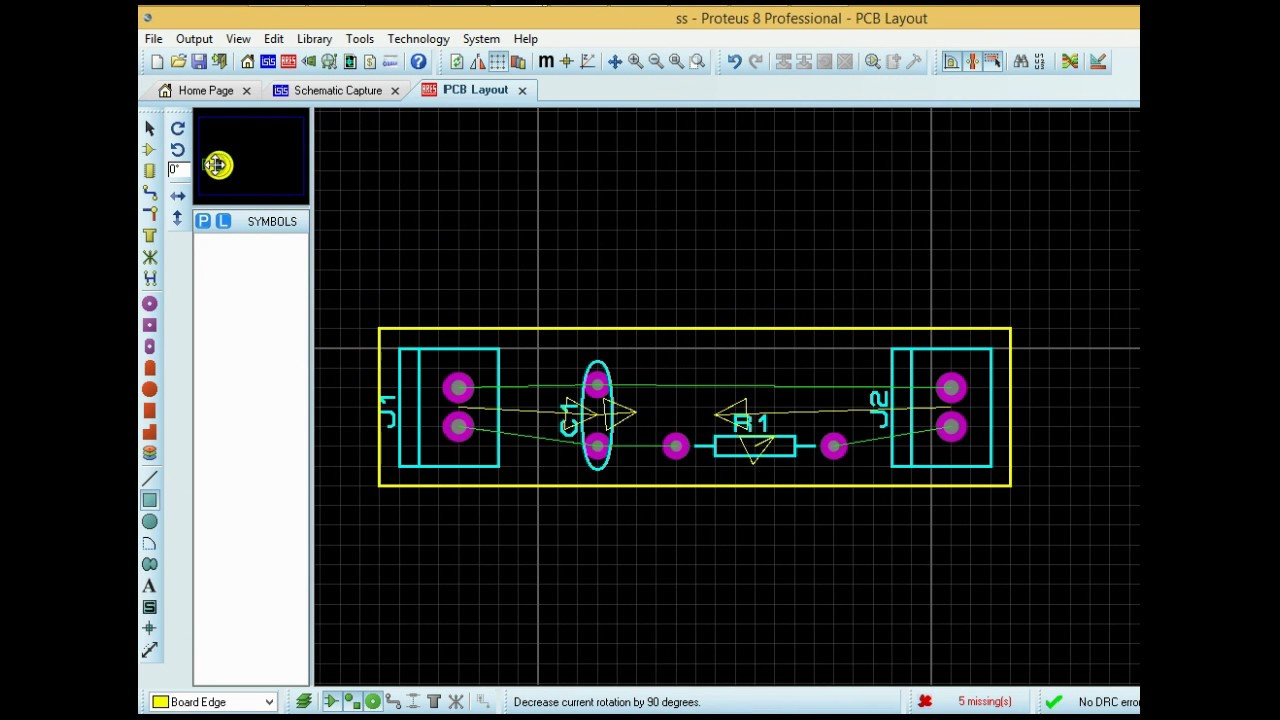 tutorial pcb design with proteus design suite - youtube, Schematic
