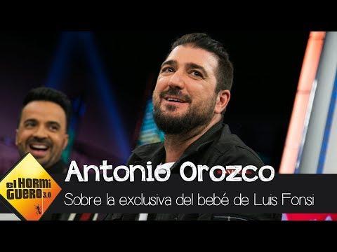 Antonio Orozco: 'Reventé la exclusiva del sexo del bebé de Luis Fonsi' - El Hormiguero 3.0
