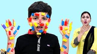 AAYU KI SHARARAT | Moral Value for kids | Playing with LEGO | Good Habits | Aayu and Pihu Show