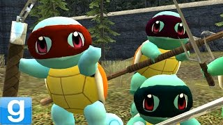 TEENAGE MUTANT NINJA SQUIRTLES! Gmod TMNT Pokemon Mod (Garry