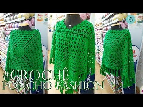 Poncho De Crochê Fashion - Henrique Silva TV